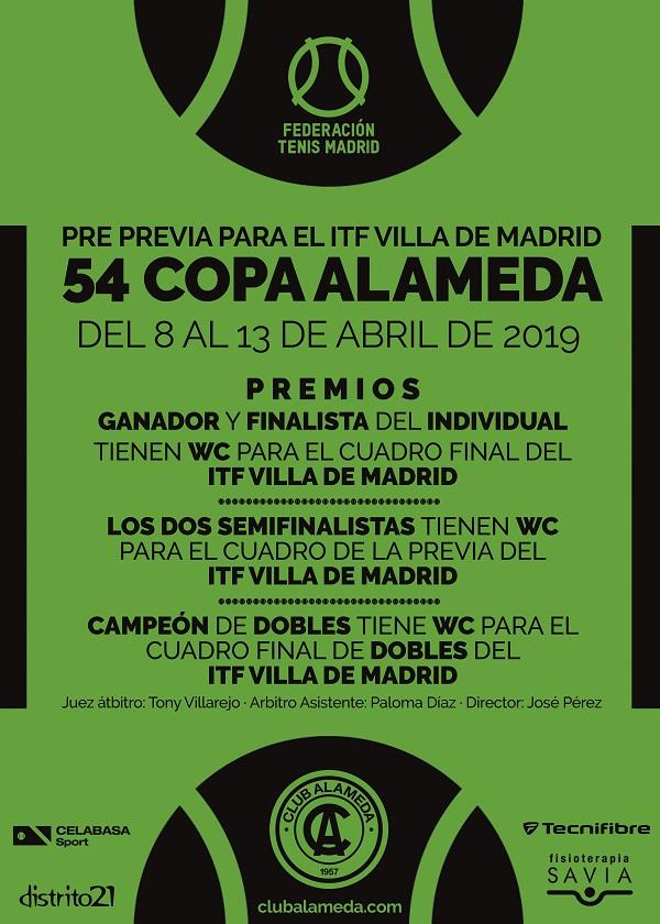 El Club Alameda organiza la 54 Copa Alameda del 8 al 13 de abril