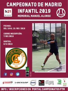 El Club Tenis Alameda recibe el campeonato de Madrid infantil