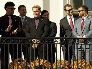 Campeones mundiales visitaron la Casa Blanca