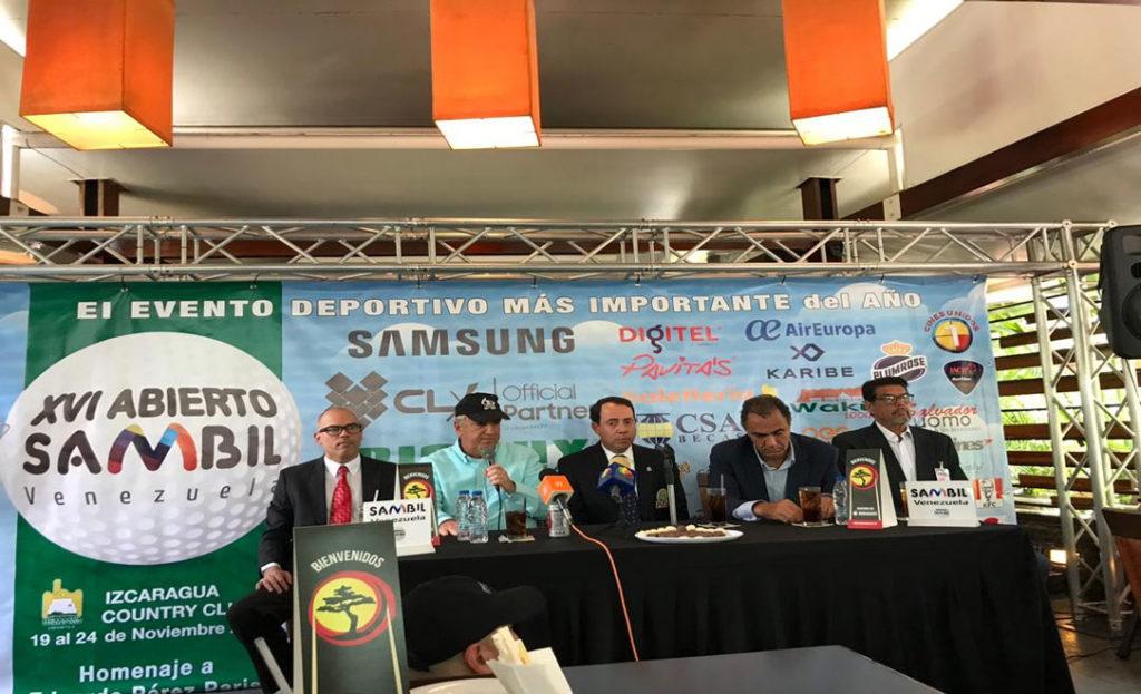 XVI Abierto Sambil Venezuela de golf fue presentado