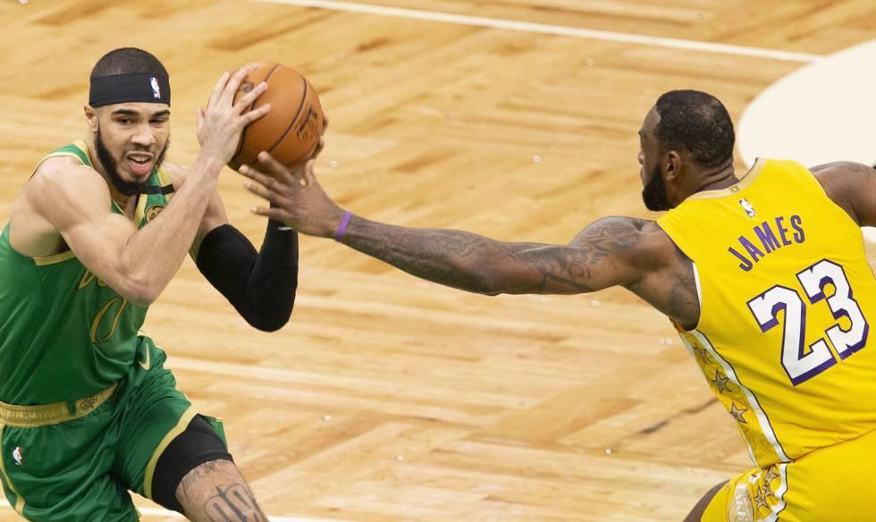 Los Celtics de Boston derrotaron a los Lakers de los Ángeles